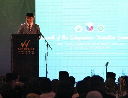 Speech of MILF Chairman Al-Hajj Murad Ebrahim during the Launch of the Bangsamoro Transition Commission