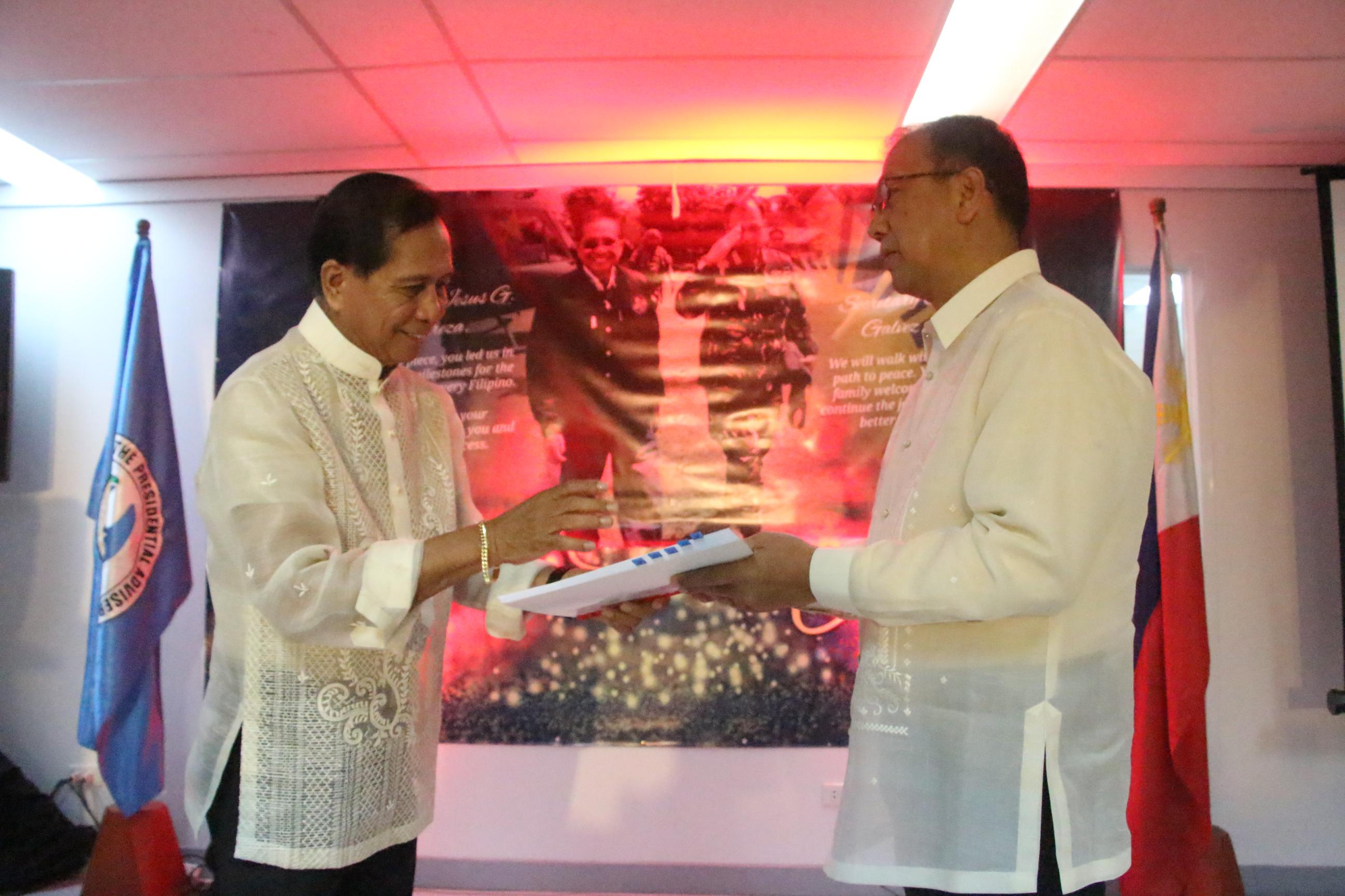 Galvez officially assumes as Presidential Peace Adviser
