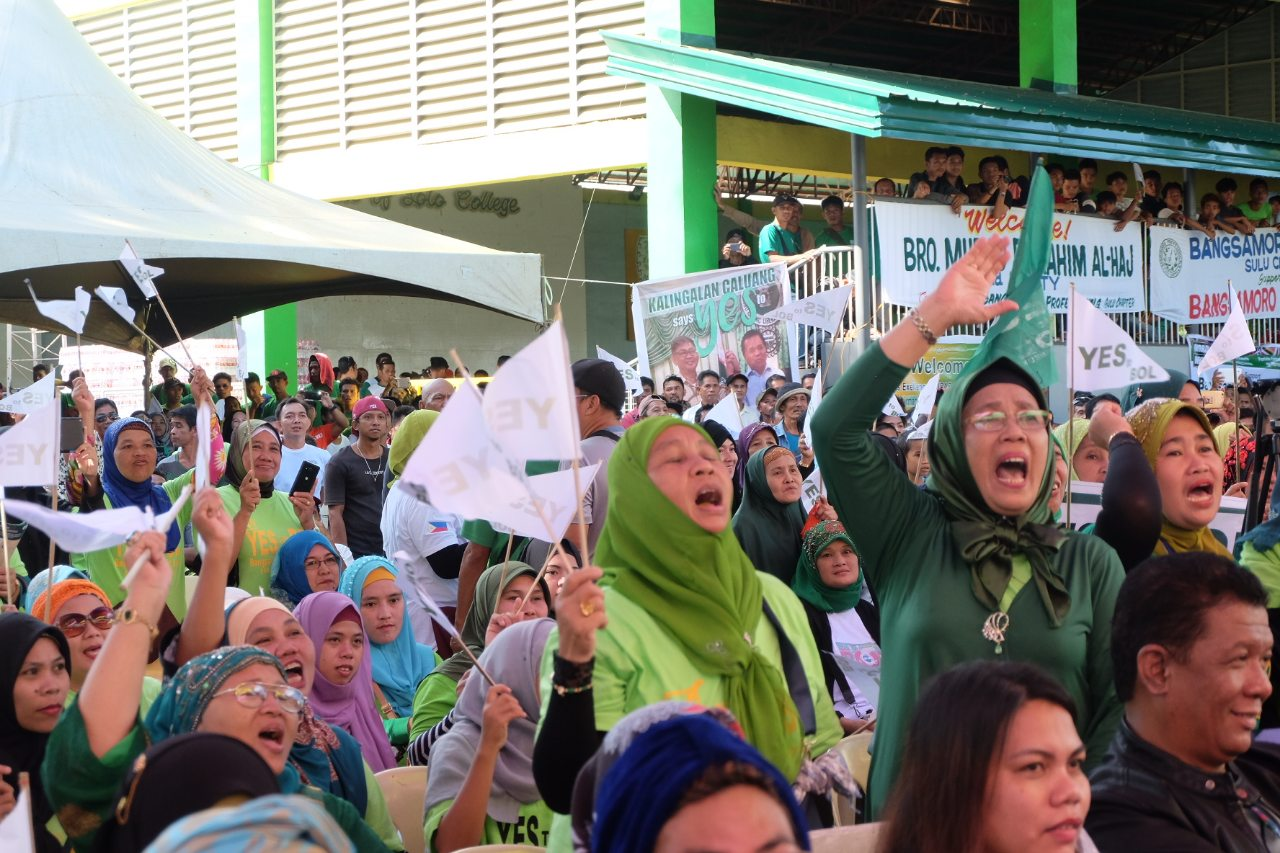 Thousands join BOL campaign rally in Jolo