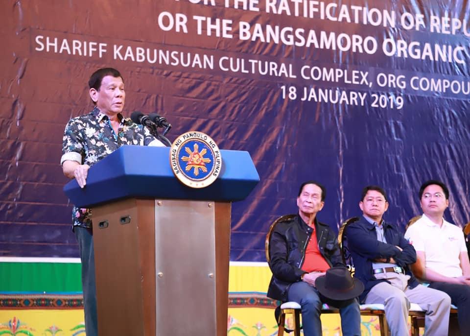 President Duterte leads call for ratification of BOL in Cotabato City