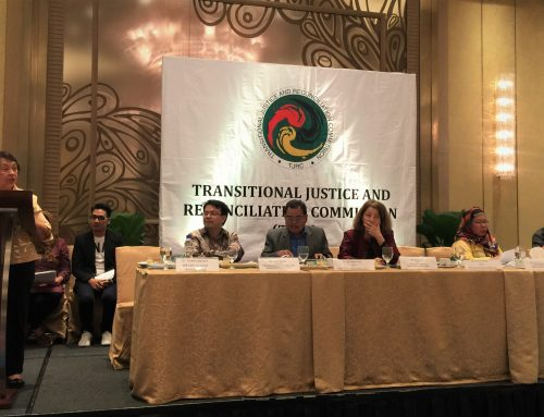 Speech of Irene M. Santiago, Chair, Government Implementing Panel for the GPH-MILF Peace Accord, on behalf of Secretary Jesus G. Dureza during the TJRC Public Launch