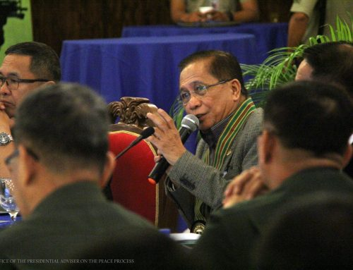 Statement of Presidential Peace Adviser Sec. Jesus G. Dureza on NPA Attacks