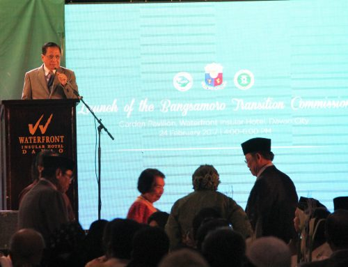 Speech of Presidential Peace Adviser Jesus G. Dureza during the Launch of the Bangsamoro Transition Commission