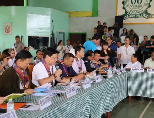 Senators commit peace and prosperity for Sulu through BBL