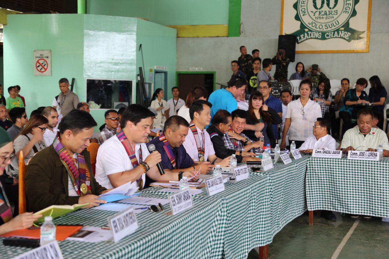 Senators commit peace and prosperity for Sulu through BBL