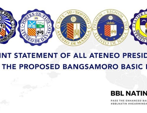 A Joint Statement of All Ateneo Presidents on the Proposed Bangsamoro Basic Law