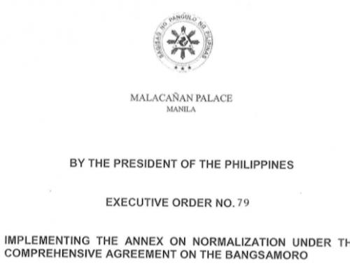 EO 79: Annex on Normalization