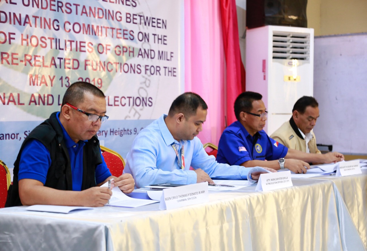GPH, MILF ceasefire bodies ink memorandum for peaceful and credible elections