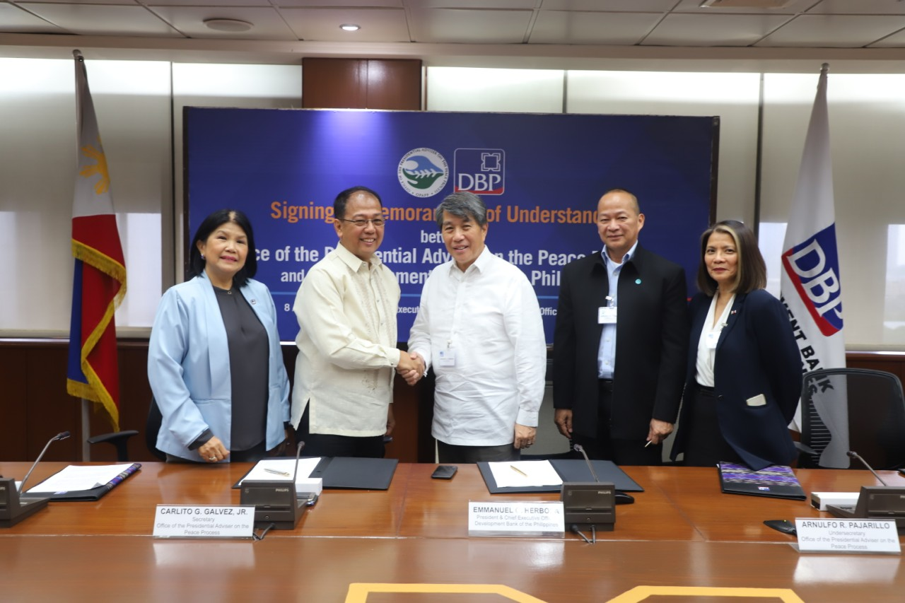 OPAPP, DBP ink MOU to manage fund support for poor conflict-affected areas