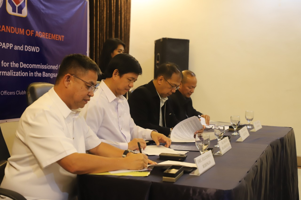 OPAPP, DSWD forge agreement to provide socio-economic packages to former MILF combatants