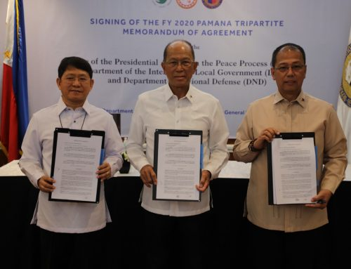DND, DILG, OPAPP ink tripartite MoA to implement PAMANA projects