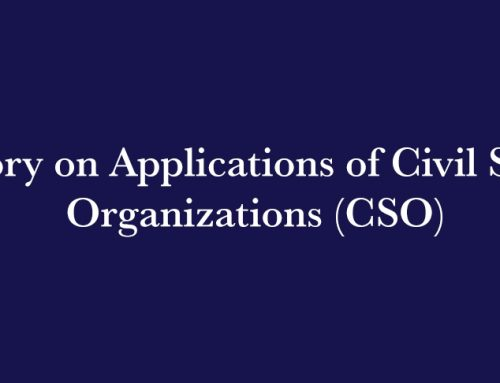 Advisory on Applications of Civil Society Organizations (CSO)