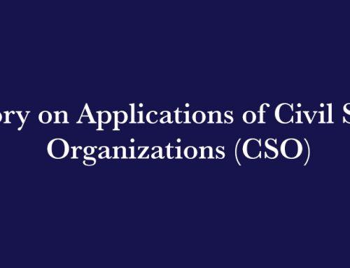 Advisory on Applications of Civil Society Organizations (CSO)