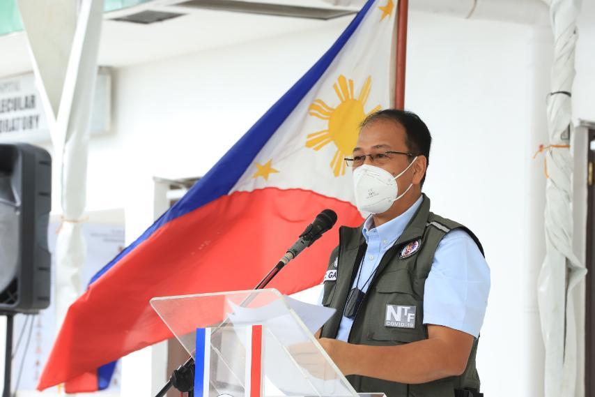 File Photo of NTF Against COVID-19 Chief Implementer and Vaccine Czar Secretary Carlito Galvez, Jr.