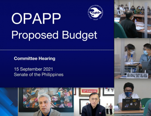 """Senate Committee on Finance, Sub-Committee """"C"""" approves OPAPP budget; throws full support behind agency's peacebuilding efforts"""